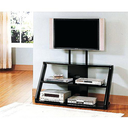 Walmart Glass Tv Stands Glass Stands A Complete Stand To Mount A With Regard To Preferred Black Tv Stand With Glass Doors (Gallery 19 of 20)