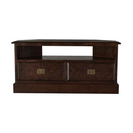 Walnut Corner Tv Stands In Popular Tewkesbury Corner Tv Stand Walnut (brown) – Compare Furniture (View 17 of 20)
