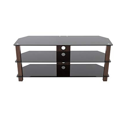 Walnut Corner Tv Stands Inside Trendy Amazon: Avf Fs1250Valwb3 A Reflections Valletta Corner Tv Stand (View 17 of 20)