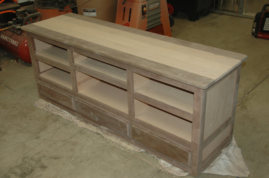 Walnut & Curly Maple Tv Stand Dmoore @ Lumberjocks Regarding Trendy Maple Wood Tv Stands (View 13 of 20)