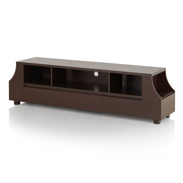 Walnut Tv Cabinets With Doors Intended For 2017 Furniture Of America Basa Contemporary 70 Inch Walnut Tv Stand (View 17 of 20)
