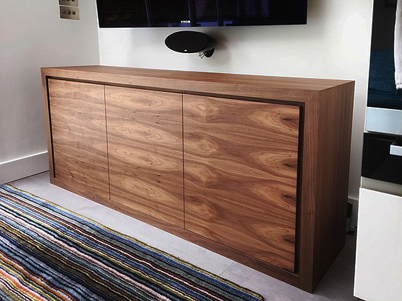 Walnut Tv Cabinets With Doors With Best And Newest American Black Walnut Tv Cabinet, Made To Measure Tv Cabinet, Stores (View 16 of 20)