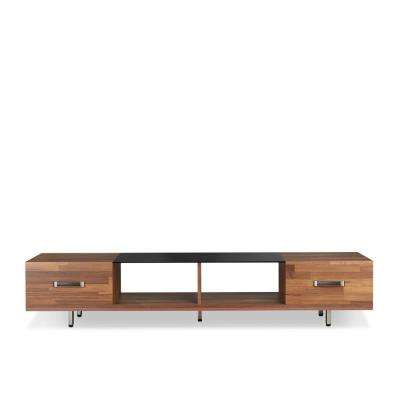 Walnut Tv Stands For Recent Walnut – Tv Stands – Living Room Furniture – The Home Depot (Gallery 4 of 20)