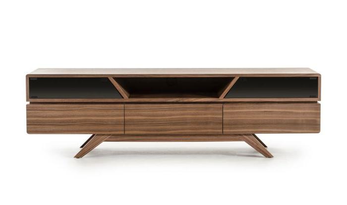 Walnut Tv Stands Regarding Recent Vig Furniture Vgbbvig141101F Modrest Soria Modern Walnut Tv Stand (View 18 of 20)