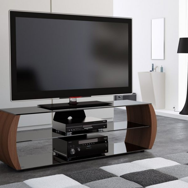 Walnut Tv Stands With Most Recently Released C Series C1360W Walnut Tv Stand – Tv Stands – Brackets & Furniture (Gallery 19 of 20)