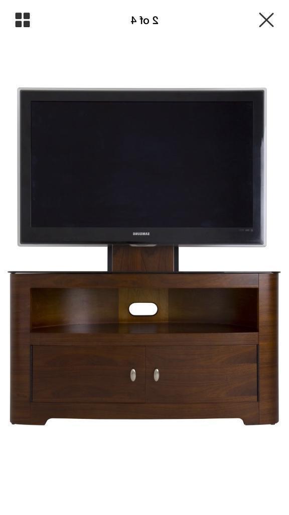 Walnut Wood Corner Tv Stand With Bracket (View 5 of 20)