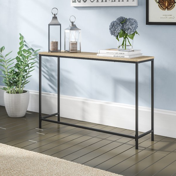 Wayfair Pertaining To Mix Agate Metal Frame Console Tables (View 17 of 20)