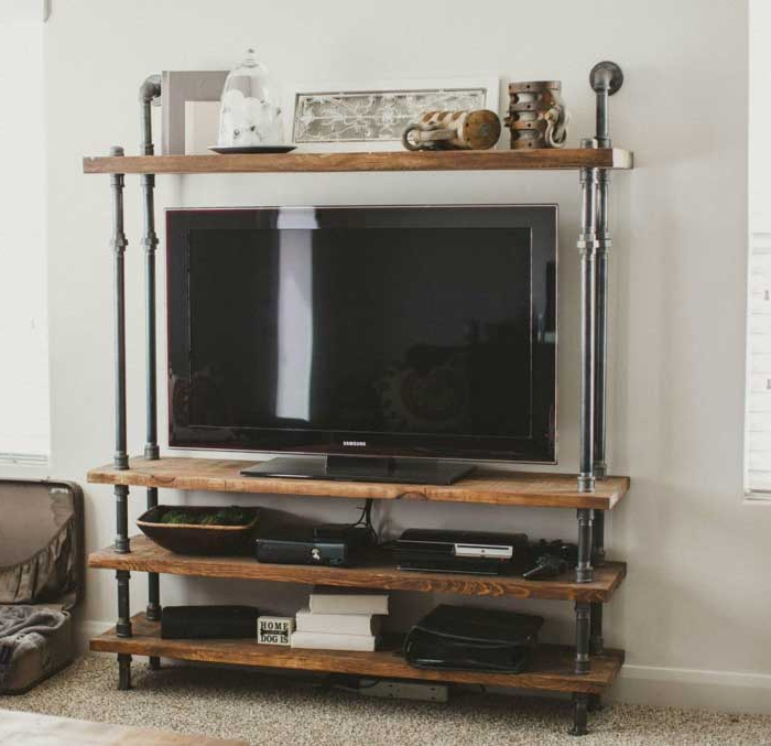 Well Known 21+ Diy Tv Stand Ideas For Your Weekend Home Project Within Wood Tv Floor Stands (View 17 of 20)