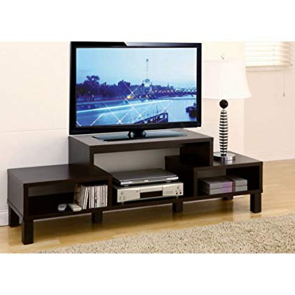 "Well Known Amazon: 60"" Inch Television Stand Tv Console Wooden Plasma Tv Pertaining To Plasma Tv Stands (View 18 of 20)"