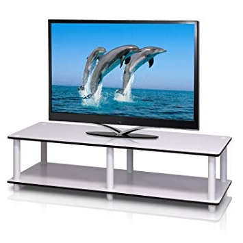 Well Known Amazon: Furinno 11175Wh(Ex)/wh Just No Tools Wide Tv Stand In Tv Stands For Tube Tvs (View 18 of 20)