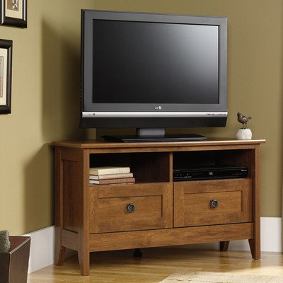 "Well Known Amazon: Multipurpose 40"" Corner Tv Stand With Open Storage Shelf With Regard To Tv Stands Over Cable Box (View 15 of 20)"