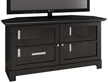 Well Known Amazon: Nexera Pinnacle 49 Inch Modern Unit 102906 Black Corner Intended For Modern Corner Tv Units (Gallery 3 of 20)