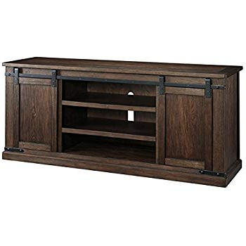 "Well Known Amazon: Rustic Tv Stand With Star Real Wood Western 60"" Flat For Casey Grey 74 Inch Tv Stands (View 18 of 20)"