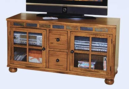 "Well Known Amazon: Sunny Designs Sedona 52"" Tv Stand In Rustic Oak: Kitchen For Rustic Oak Tv Stands (View 8 of 20)"