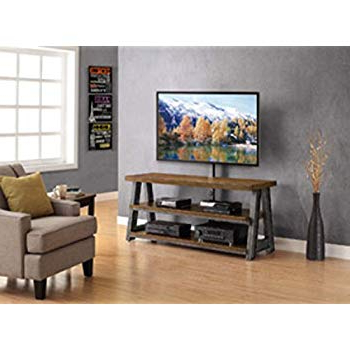 Well Known Amazon: Whalen Furniture 3 In 1 Brown Tv Stand For Tvs Up To 70 Intended For Jaxon 71 Inch Tv Stands (Gallery 5 of 17)