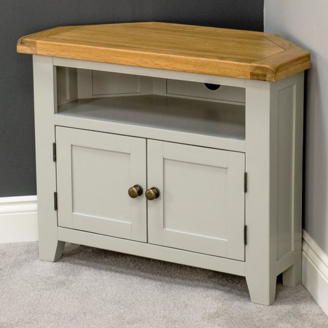 Well Known Arklow Painted Oak Dovetail Grey Corner Tv Stand (View 16 of 20)