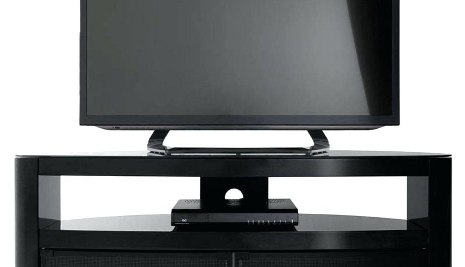 Well Known Black Corner Tv Stands For Tvs Up To 60 Pertaining To Splendid Black Entertainment Stand Small Corner Tv Walmart Unit Home (View 20 of 20)