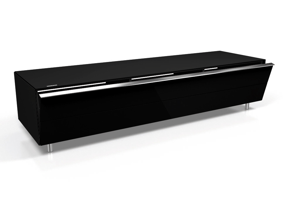 Well Known Black Gloss Tv Units Regarding Spectral Scala Sc1650 Gloss Black Lowboard Tv Cabinet – Spectral (View 14 of 20)