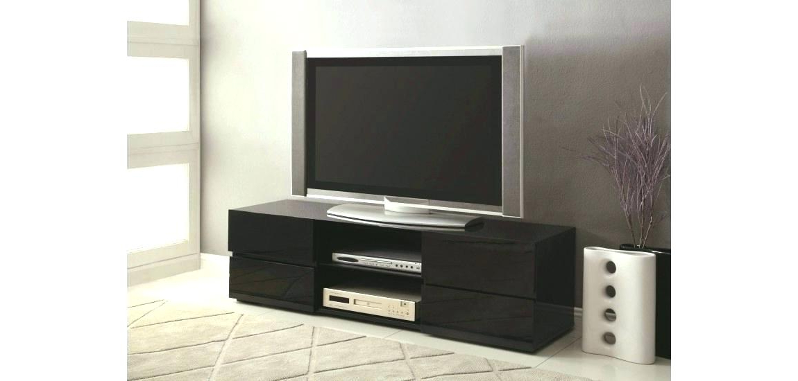 Well Known Black High Gloss Corner Tv Unit Within Tv Stand With Cabinet – Esrarrim (View 20 of 20)