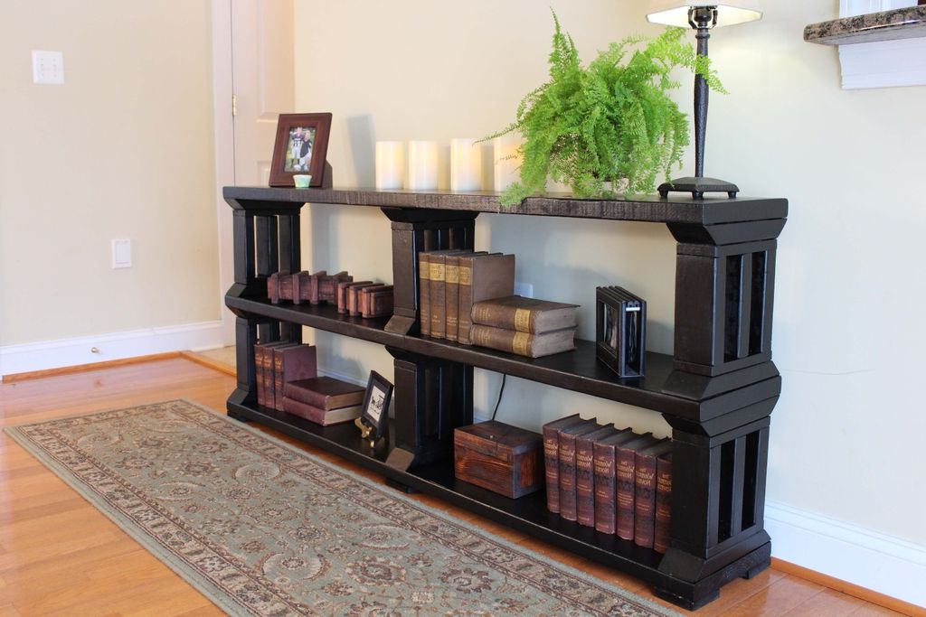 Well Known Bookshelf And Tv Stands Regarding Rustic Book Shelf Or Tv Stand: 13 Steps (With Pictures) (View 17 of 20)