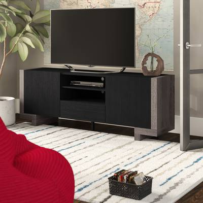 Well Known Brayden Studio Halton Contemporary Tv Stand For Tvs Up To 65 Within Contemporary Tv Stands For Flat Screens (View 16 of 20)