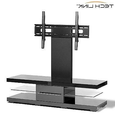 Well Known Cantilever Tv Stands For Techlink Black High Gloss & Glass Cantilever Tv Stand £ (View 18 of 20)