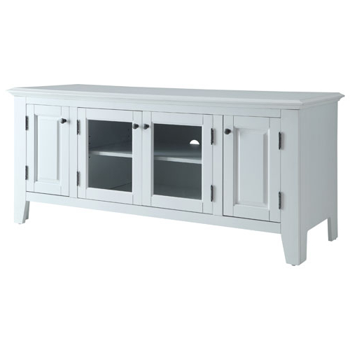 """Well Known Cheap White Tv Stands Throughout Marcus Tv Stand For Tvs Up To 55"""" (Mc70055) – White : Tv Stands (Gallery 9 of 20)"""