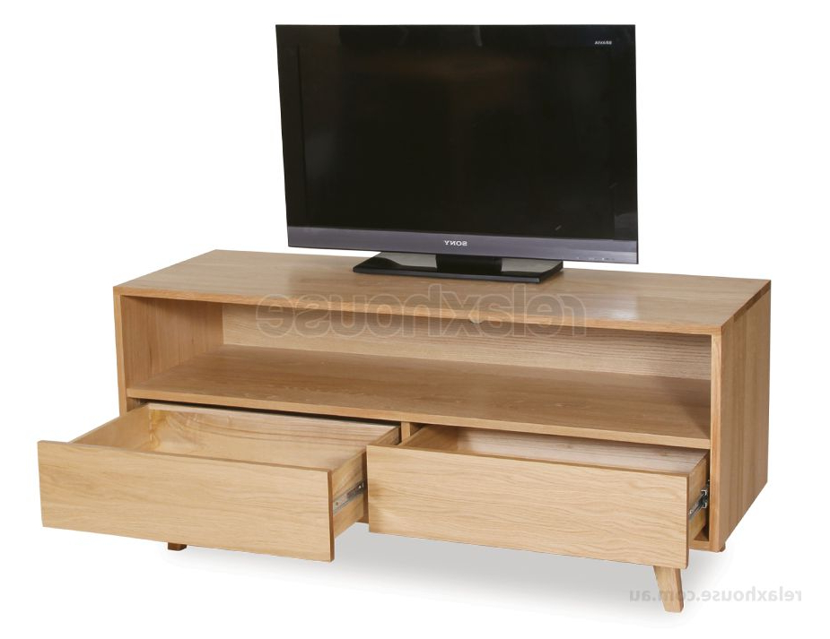Well Known Contemporary Oak Tv Cabinets In Contemporary Solid Oak Tv Cabinet With Storage (View 19 of 20)