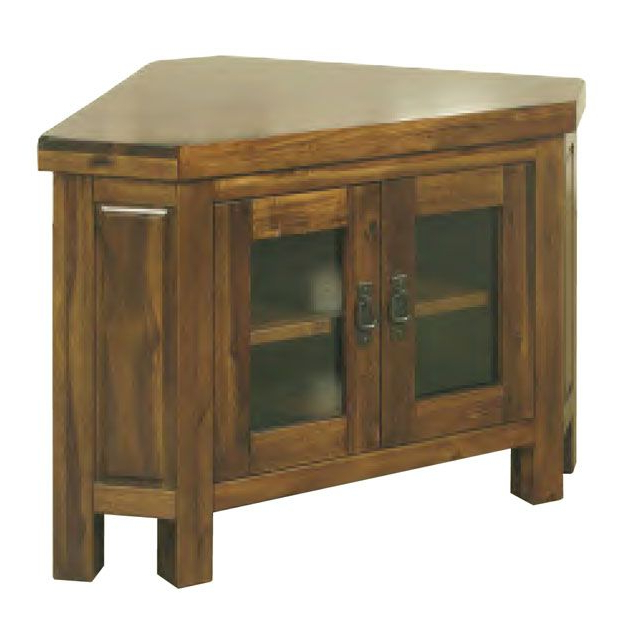 Well Known Corner Tv Cabinets With Glass Doors Regarding Roscrea Corner Tv Unit – Glass Doors (View 13 of 20)