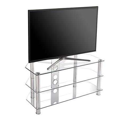 Well Known Corner Tv Stands For 46 Inch Flat Screen Pertaining To Online Shop Fitueyes Curved Silver Corner Tv Stand For Up To 46Inch (View 14 of 20)