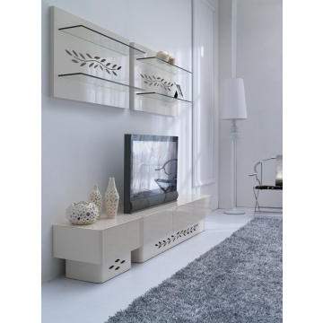 Well Known Cream High Gloss Tv Cabinets Inside Kd14, China Tempered Glass In Cream Color And Mdf Tv Cabinet In High (Gallery 9 of 20)