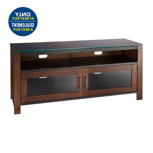Well Known Dark Brown Corner Tv Stands With Tv Stands – Corner & Fireplace Tv Stands – Best Buy Canada (View 11 of 20)