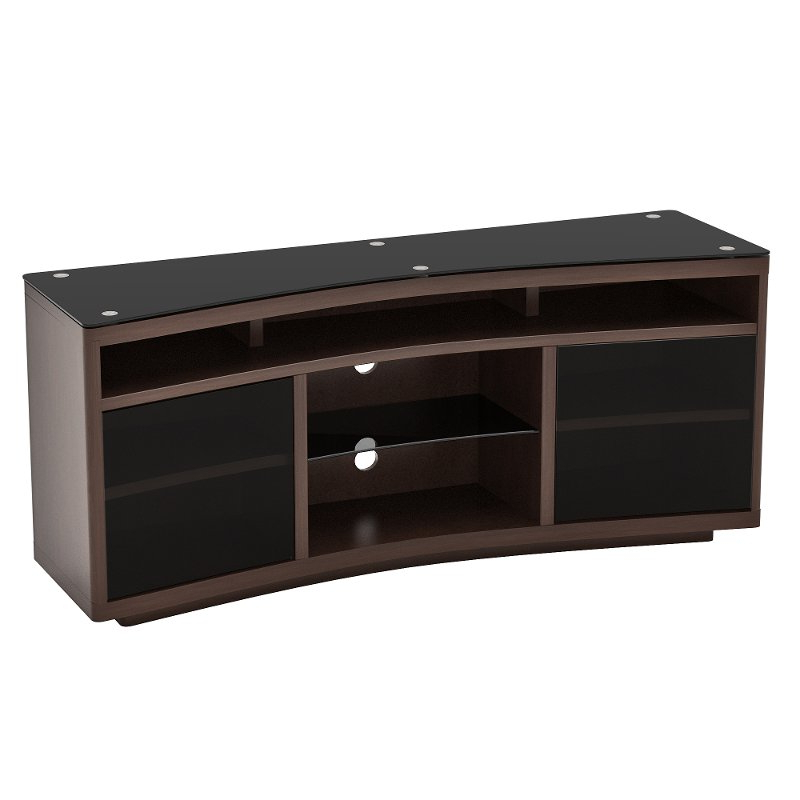 Well Known Dark Cherry Curved Tv Stand (60 Inch) – Radius (View 20 of 20)
