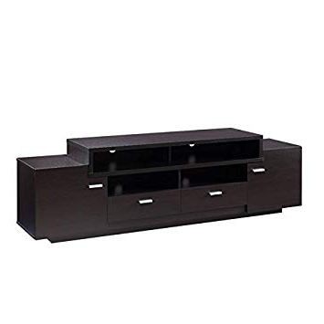 "Well Known Dixon White 65 Inch Tv Stands Pertaining To Amazon: Furniture Of America Braswell 72"" Tv Stand In Cappuccino (View 19 of 20)"