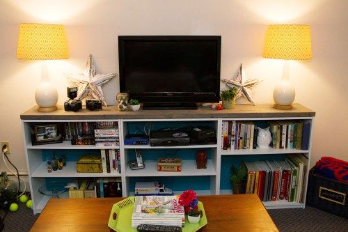 Well Known Diy Bookshelf Tv Stand (View 18 of 20)