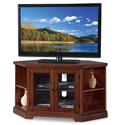 Well Known Double Tv Stands With Regard To Amazon: Corner Tv Stand Console, Double Door Cabinet With Side (View 10 of 20)