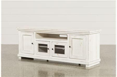 Well Known Ducar 74 Inch Tv Stands Pertaining To Sinclair White 74 Inch Tv Stand (Gallery 1 of 20)