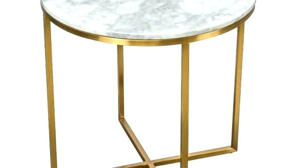 Well Known Elke Glass Console Tables With Polished Aluminum Base Within Elke Round Marble Coffee Table Side Living Room Contemporary Top (View 19 of 20)
