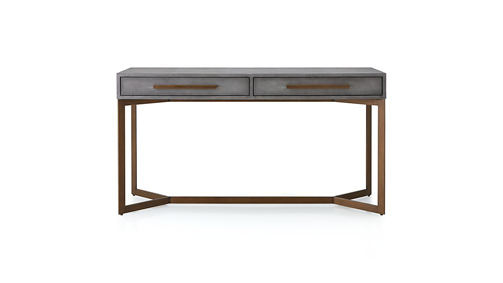 Well Known Faux Shagreen Console Table + Reviews (View 10 of 20)