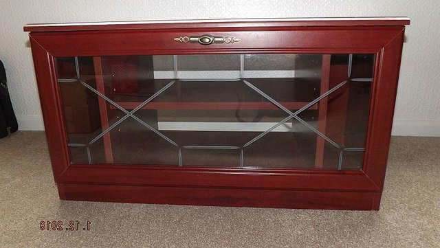 Well Known Glass Fronted Tv Unit – Second Hand Household Furniture, Buy And Throughout Glass Fronted Tv Cabinet (View 7 of 20)