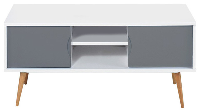 Well Known Grey Tv Stands Pertaining To Scandinavian White And Grey Tv Stand – Scandinavian – Tv Stands (View 19 of 20)