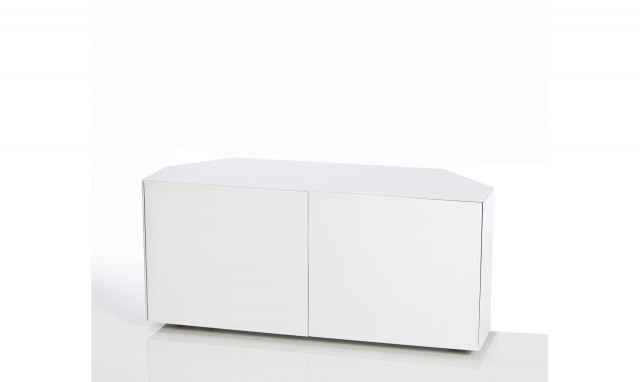 "Well Known High Gloss Corner Tv Units With Marvel – 55"" Corner Tv Unit In White High Gloss – Fishpools (View 19 of 20)"
