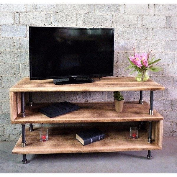 Well Known Industrial Metal Tv Stands With Regard To Shop Tucson Modern Industrial Reclaimed Aged Wood Finish And Metal (View 20 of 20)