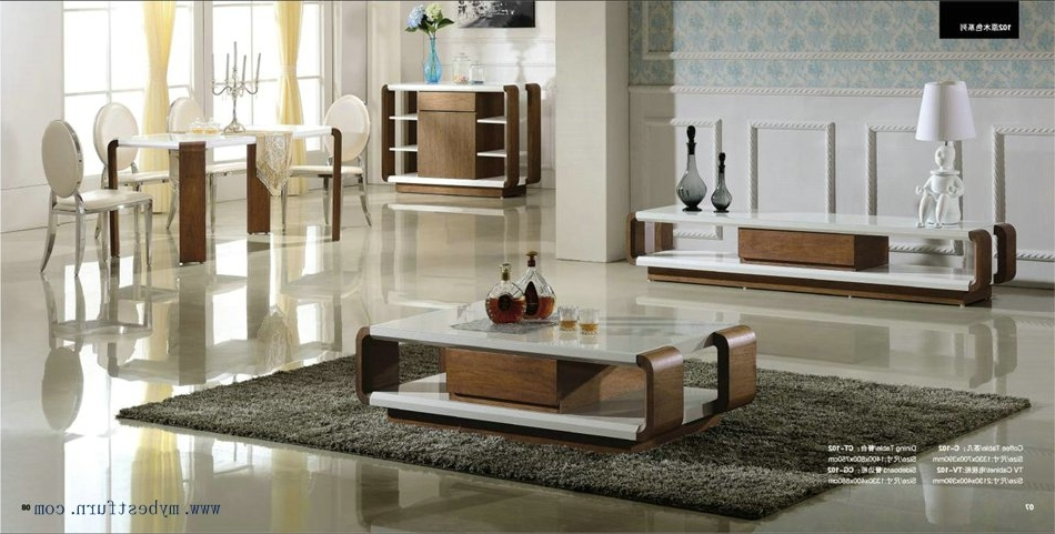 Well Known Interesting Modern Living Room Furniture Set Coffee Table Tv Stand Throughout Tv Stand Coffee Table Sets (Gallery 13 of 20)