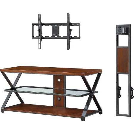 "Well Known Jaxon 71 Inch Tv Stands Regarding Amazon: Jaxon 3 In 1 Cognac Tv Stand For Tvs Up To 70"": Kitchen (View 3 of 17)"