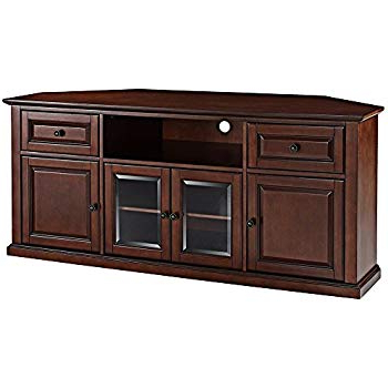 Well Known Laurent 50 Inch Tv Stands Intended For Amazon: Leick 81386 Chocolate Cherry Corner Tv Stand,  (View 18 of 20)