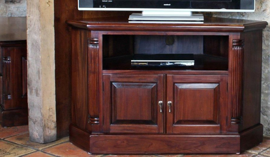 Well Known Mahogany Corner Tv Cabinets In Mahogany Corner Tv Cabinets (View 3 of 20)