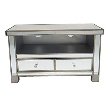 Well Known Misssnower Mirrored Glass Widescreen Tv Stand Unit: Amazon.co (View 16 of 20)