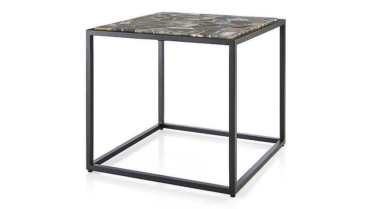 Well Known Mix Agate Low Metal Frame Side Table Pertaining To Mix Agate Metal Frame Console Tables (View 18 of 20)