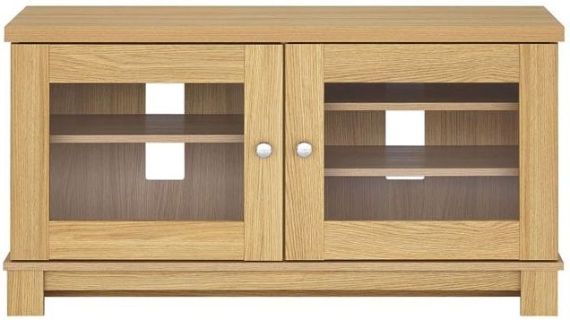 Well Known Oak Tv Cabinets With Doors Pertaining To Buy Kingstown Dalby Oak 2 Door Tv Unit Online – Cfs Uk (View 18 of 20)